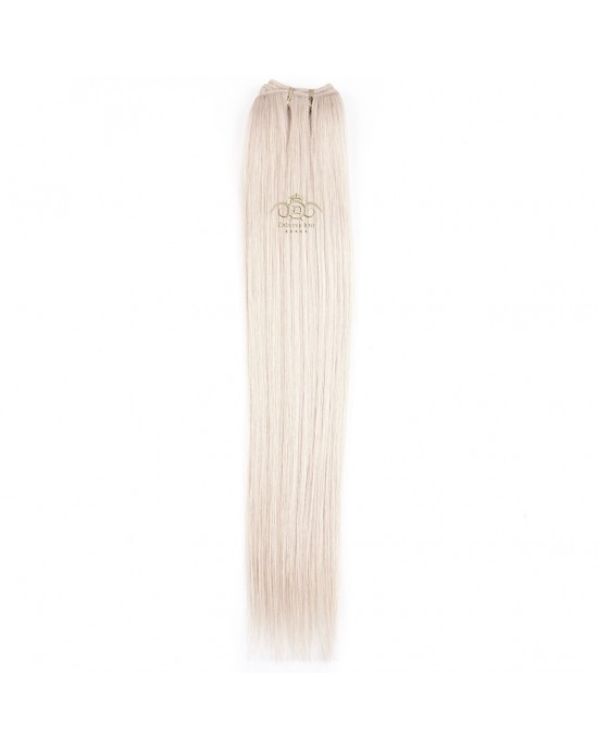 8A straight weft Ash Blonde #20