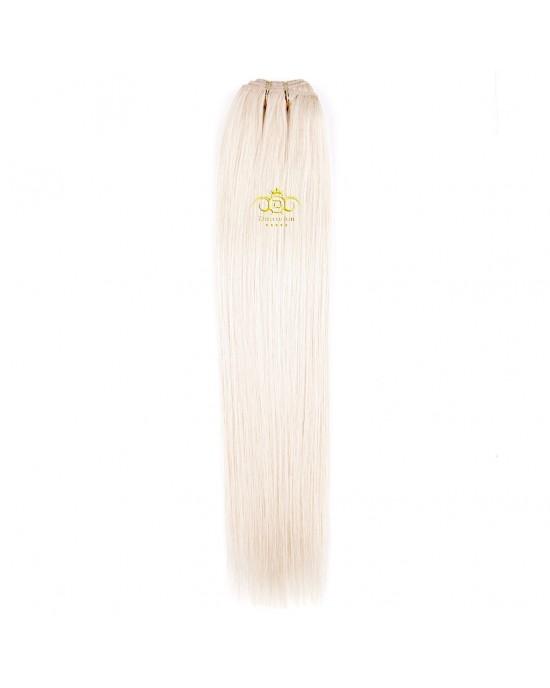 8A Straight weft Platinum Blonde #60