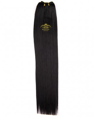 8A Straight weft Natural Black #1b