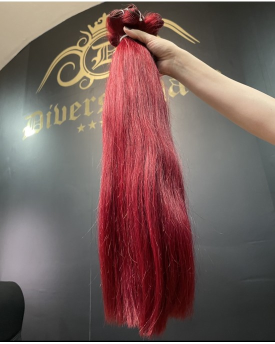 8A Straight weft 55cm  #Red
