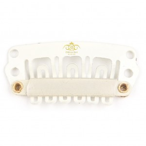 White Clips 28mm