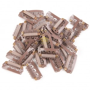 10pcs Light Brown Clips 28mm