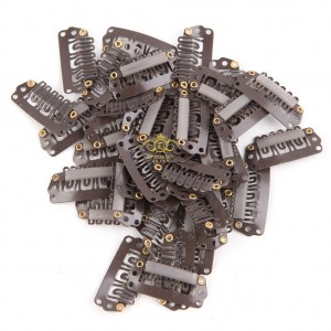 10pcs Dark Brown Clips 28mm