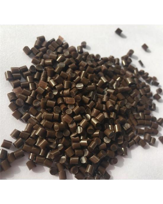 Brown Italian keratin granule grain bead