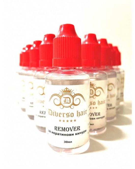 Hot melt keratin glue Remover